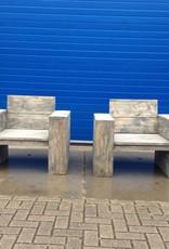 Lounge stoel van steigerhout