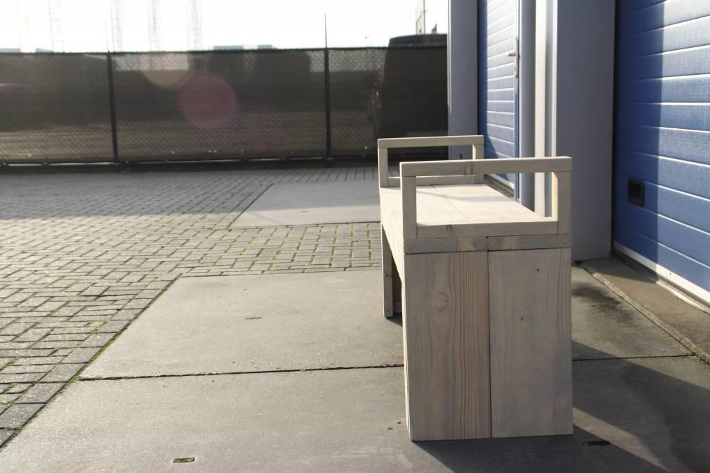 Staphorst Tuinbank (Bierbank) van steigerhout: Model Staphorst