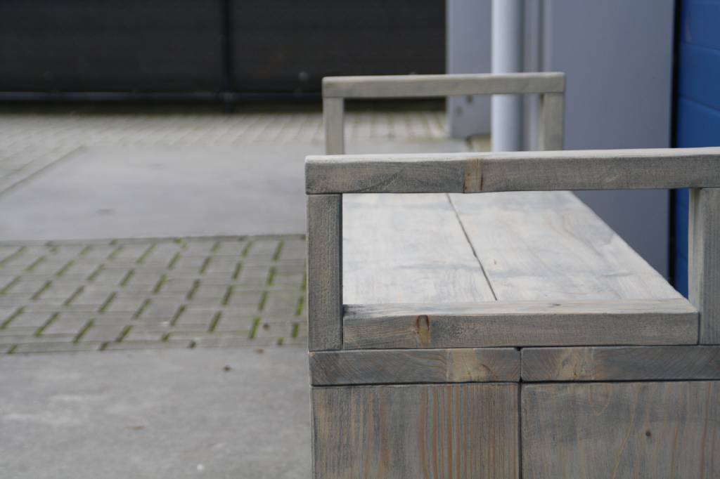 Terrasbank / Bierbank van steigerhout