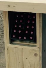 Bartafel / Partytafel van steigerhout met Bierkrat vak