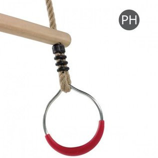 KBT Trapèze en bois aux anneaux en métal