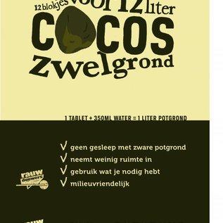 Rauwdouwers 12 liter cocos potgrond