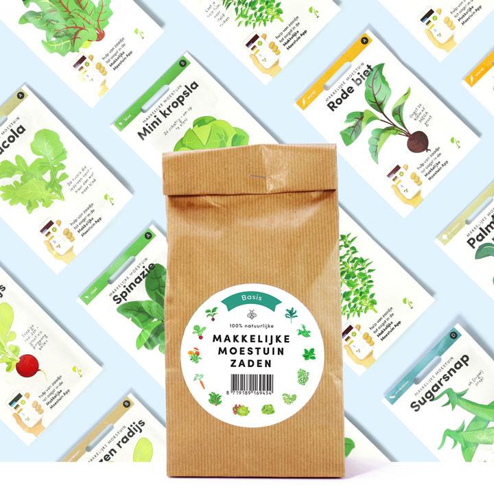 makkelijke moestuin zadenpakket basis - tuinkadeeke