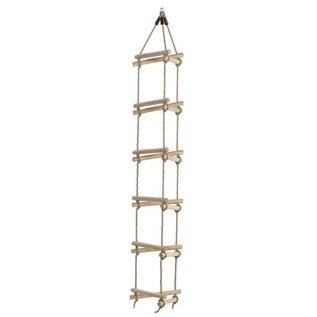 KBT Échelle de corde barreaux en bois - 3 côtés