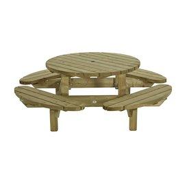 Talen Table pique-nique ronde