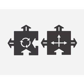WayToPlay Rotonde & Kruising (2 stuks)