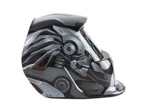 Lashelm - donker / grijs skull