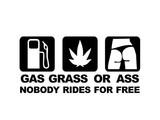 Sticker - Gas Grass Ass