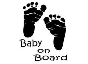 Sticker - baby voetjes zwart