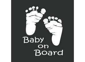 Sticker - baby voetjes wit