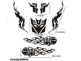 Sticker - Transformers kit zwart