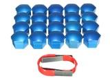 Wielbout kapjes blauw 19 mm