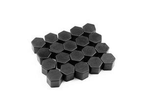 Wielbout kapjes zwart 21 mm
