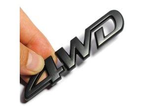Sticker 4WD zwart