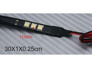 Dagrijverlichting LED blauw- 2x strip flexibel