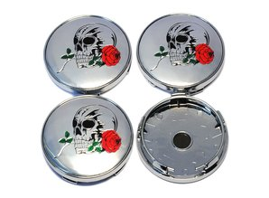 wielnaafdop Skull Rose 60mm set