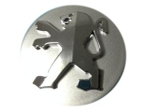 Peugeot wielnaafdop 60mm Zilver