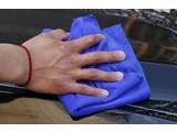 Microvezel doekje blauw 30x30cm.