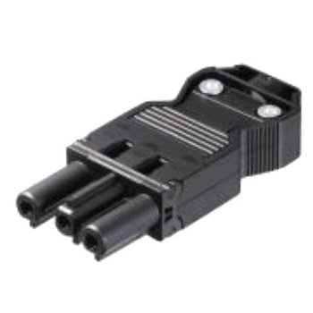 Wieland CONNECTOR GST18I3, 3 POLES, FEMALE, SCREW CONNECTION, 250V / 16A, BLACK