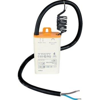 NIKO Elektronische Transfo 20-70W IP65, Incl rubberen geïsoleerde draden aan primaire zijde.