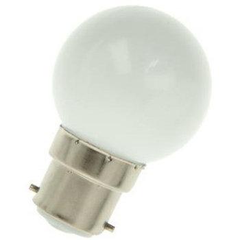 Neutral ball lamp 25W B22d 230V P45 matt