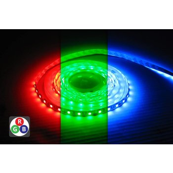 INTEGRAL Flexible bande LED RGB - 12V - 5050SMD - IP33 7.2W / m dimmable