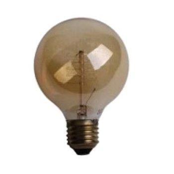 Deco spiral globe lamp 40W E27 230V G80 gold tint