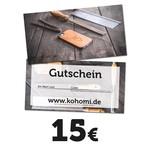 15€ Geschenkgutschein