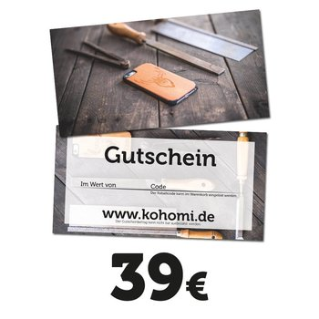 39€ Geschenkgutschein