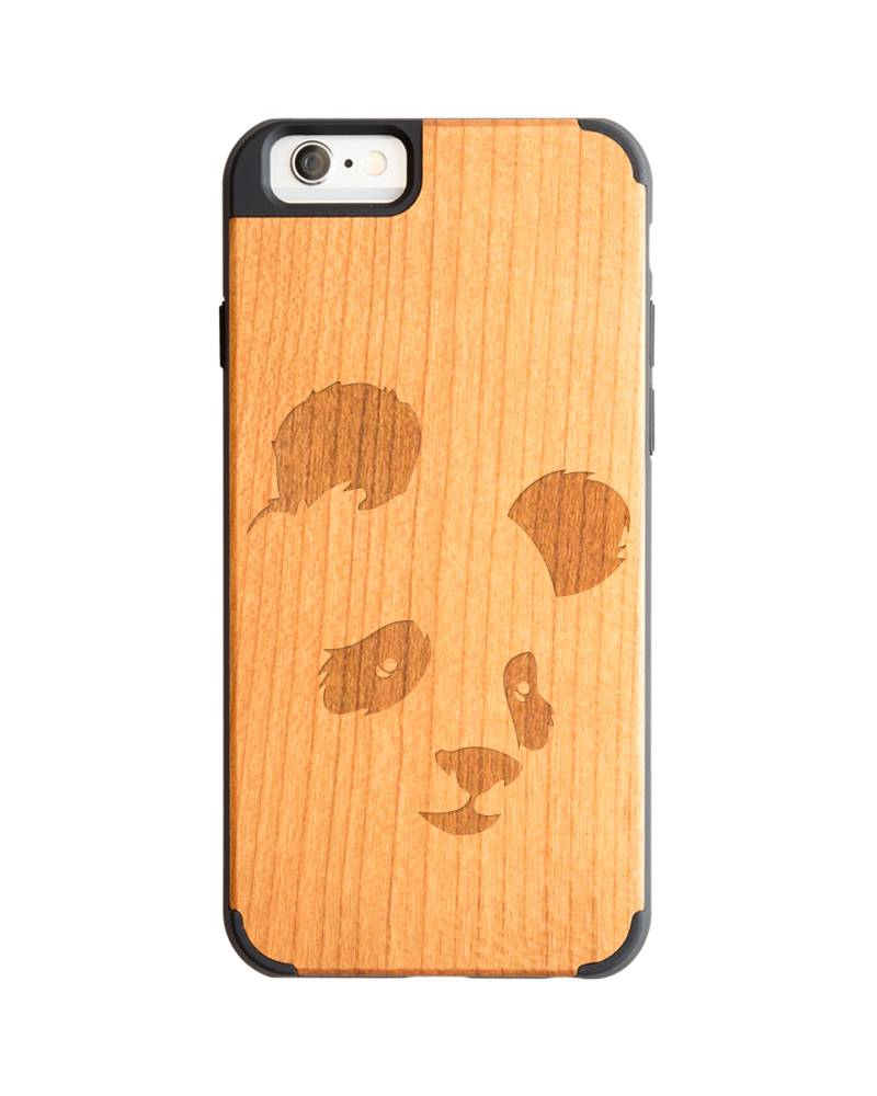 new products 93e2a d6986 iPhone 6 wood case - Panda