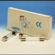 Glaszekering  6 x 32 mm  6.3 Ampere  slow