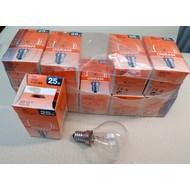 10 lampen 25 watt E14 helder  osram