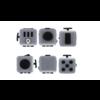 FidgetCube Friemelkubus - Fidget Toy Pop It - Stressbal - Anti Stress Speelgoed - GRIJS - speelkubus
