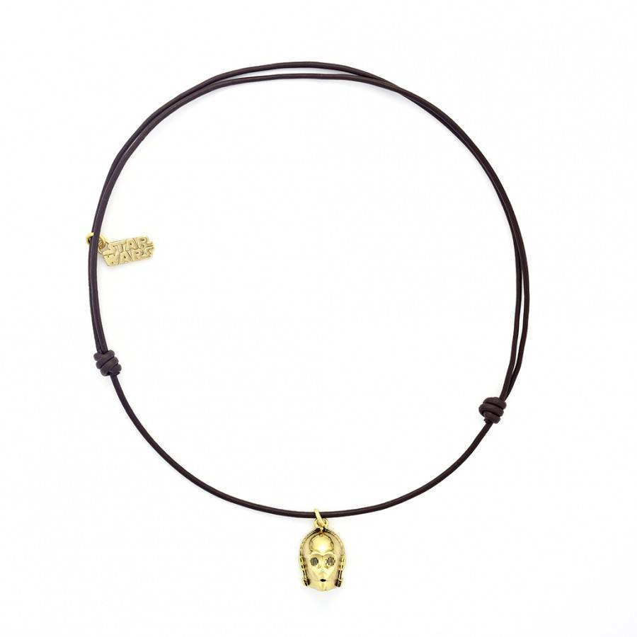 Halskette C-3PO aus Leder-1