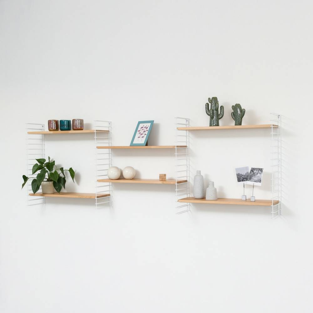 "Bookshelf ""White & Wood""-6"