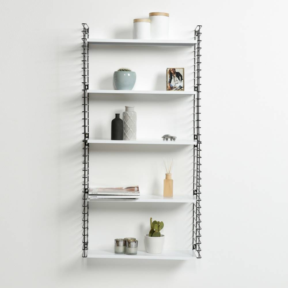 Bücherregal in Schwarz & Weiß-3