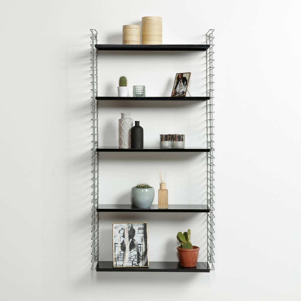 Bücherregal  in Silber & Schwarz-5