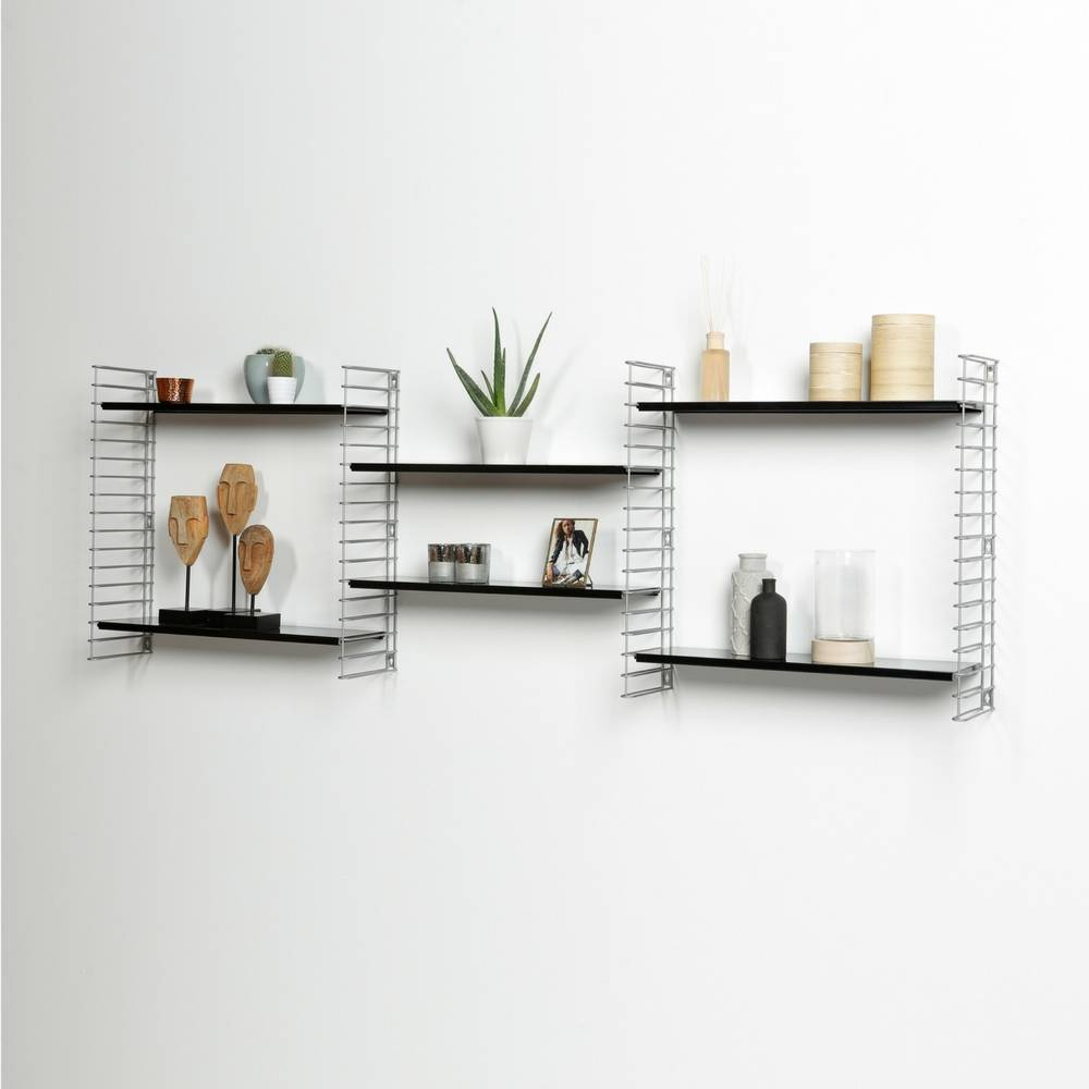 Bücherregal  in Silber & Schwarz-6