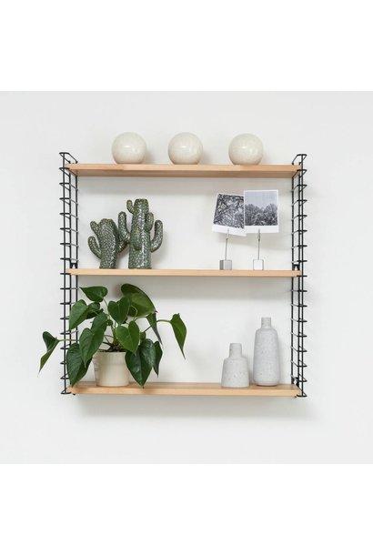 Bücherregal | Schwarz & Holz