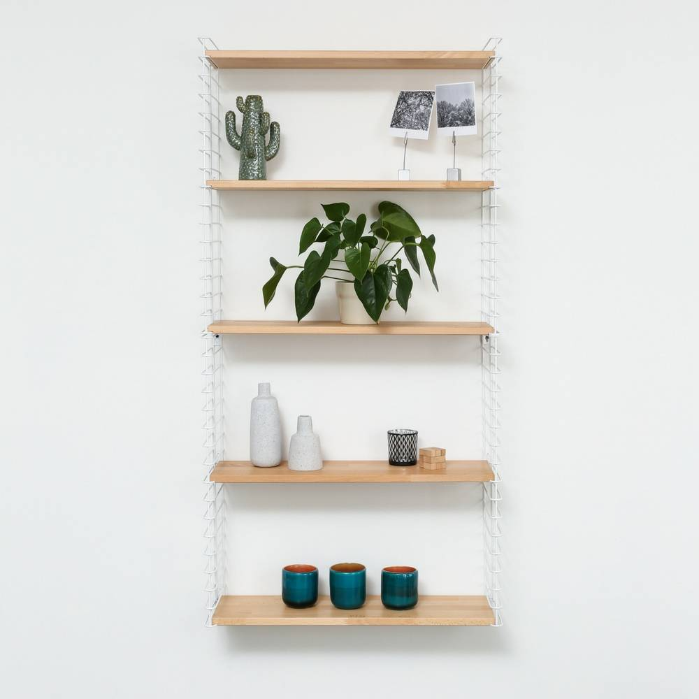 "Bookshelf ""White & Wood""-5"