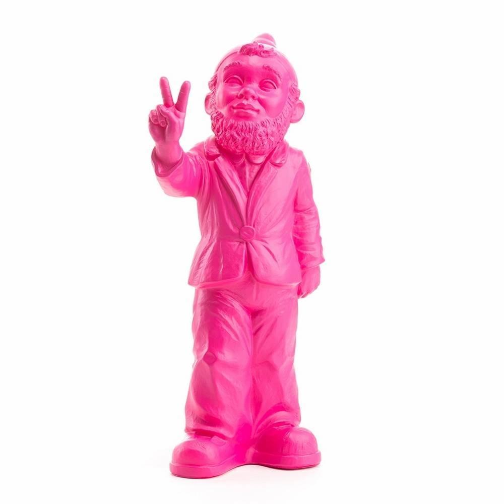"""""""Victory"""" Gartenzwerg in Pink-1"""