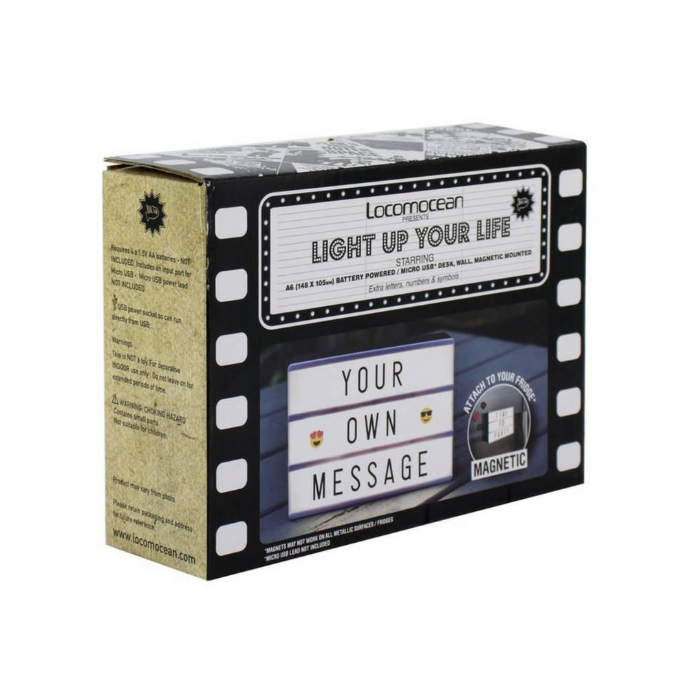 LIGHTBOX A6 Magnetische Mini Letter Lichtbak met Micro USB Input-5
