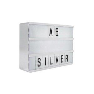 LOCOMOCEAN LIGHTBOX A6 | Zilver