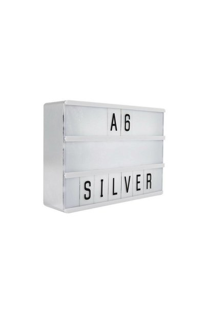 LIGHTBOX A6   Argent