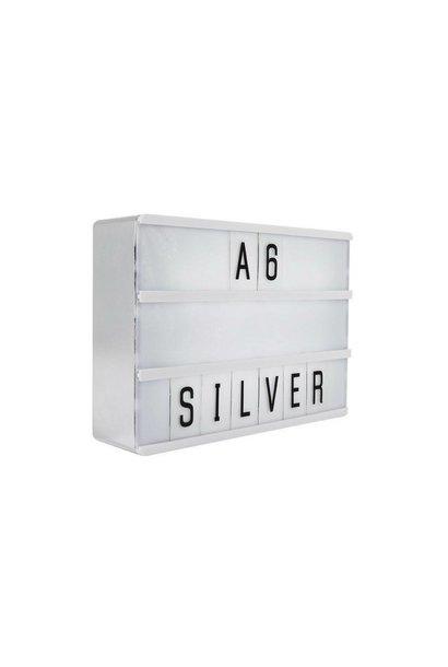 LIGHTBOX A6 | Zilver