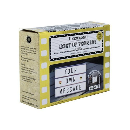 LOCOMOCEAN LIGHTBOX A6 Magnetic Mini Letter Light Box with Micro USB Input
