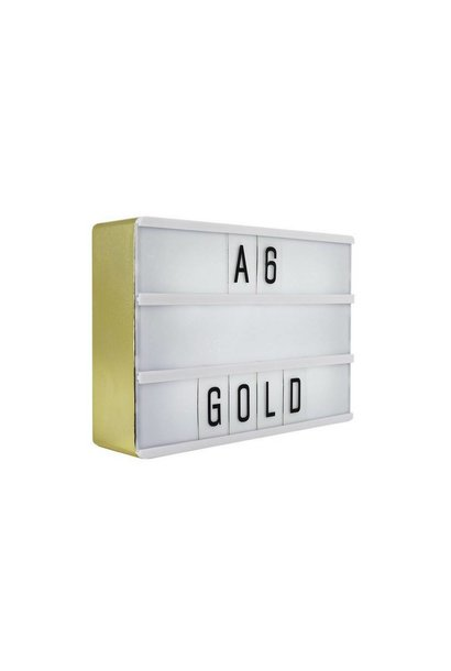 LIGHTBOX A6 | Gold