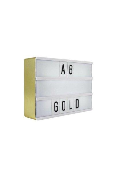 LIGHTBOX A6 | Goud