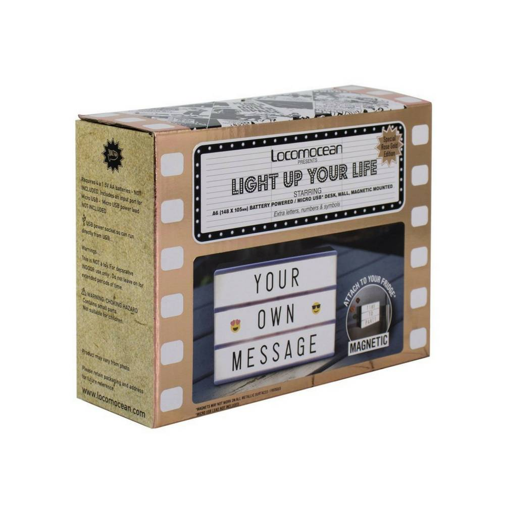 LIGHTBOX A6 Magnetische Mini Letter Lichtbak met Micro USB Input-4