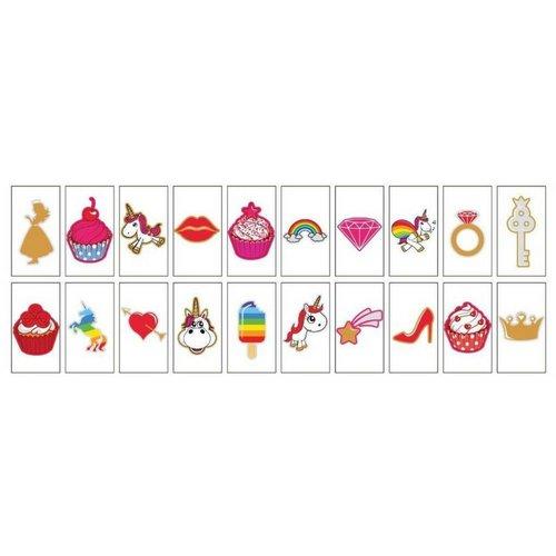 """LOCOMOCEAN 20-Pack """"Unicorns & Cupcakes"""" voor A5 Lightbox"""